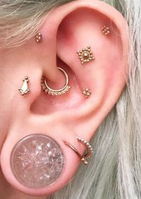 Steal These 30 Ear Piercing Ideas | Daith earrings, Ear ...