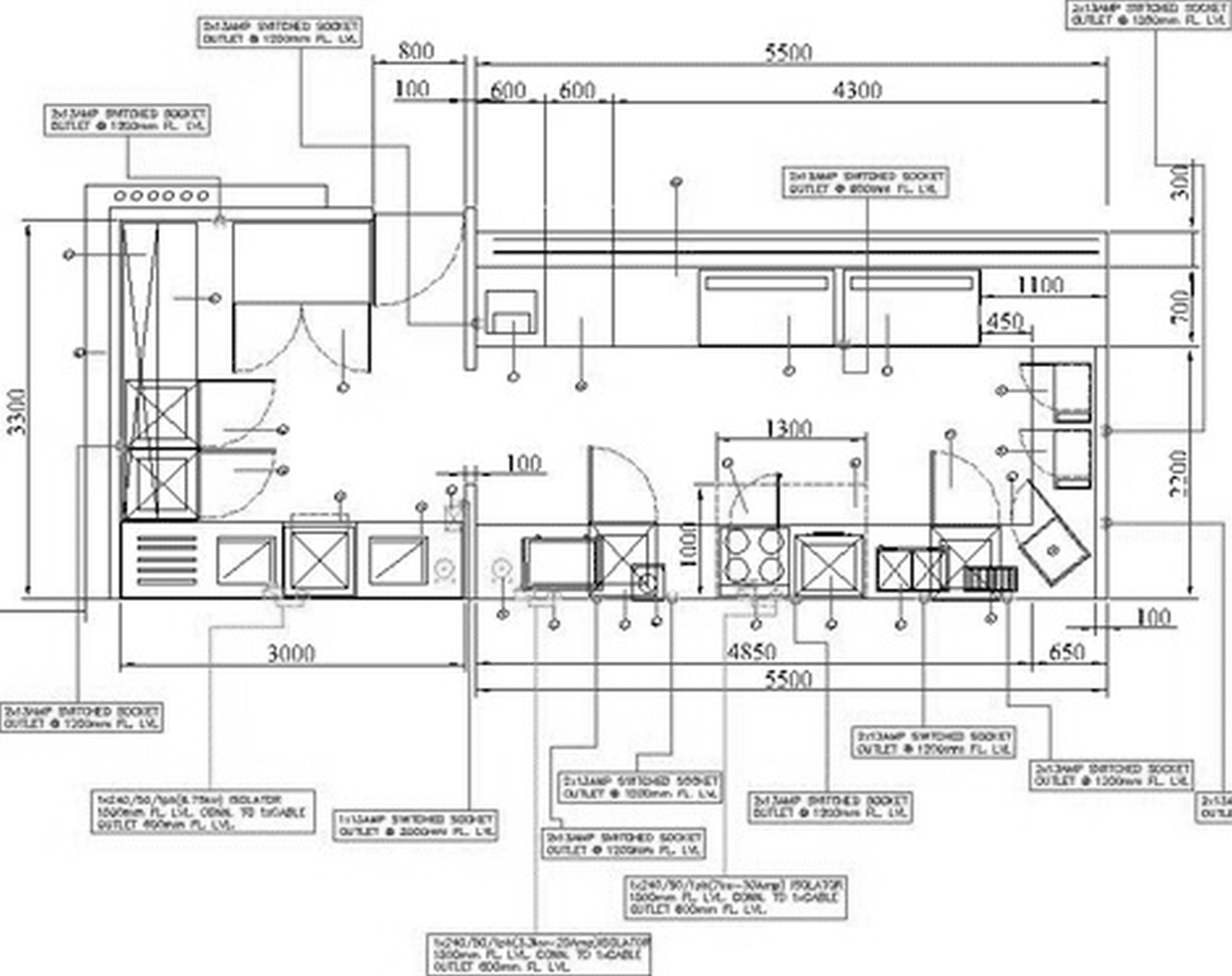 high quality threshold kitchen island 1 commercial kitchen design layout - Good Kitchen Design Layouts