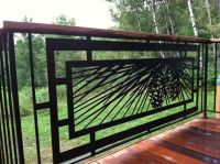 Modern Pinecone #railing for outdoor #deck, patio or hot ...