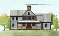 2 Story House Plan with Covered Front Porch