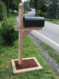 Cedar Post | Stuff to buy | Pinterest | Mailbox post ...