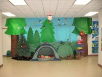 classroom+camping+theme+ideas | This camping-themed book ...