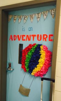 Classroom door decoration hot air balloon | Classroom ...
