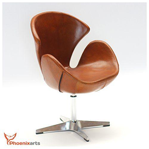 Echtleder Drehsessel Egg Chair Leder Sessel Vintage Ledersessel   Designklassiker  Stuhl Bkf Moebel