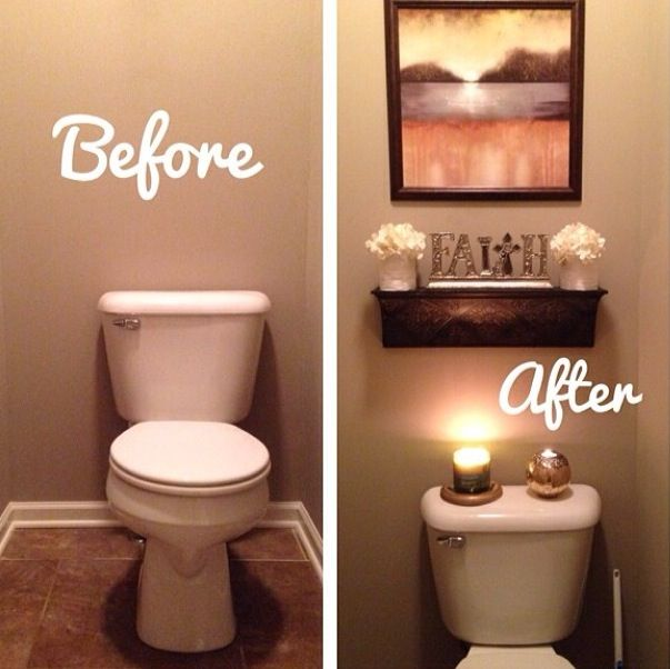 Before and after bathroom Apartment bathroom Great ideas for - guest bathroom decorating ideas