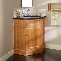 "36"" Bridgemill Corner Bamboo Vanity for Undermount Sink ..."