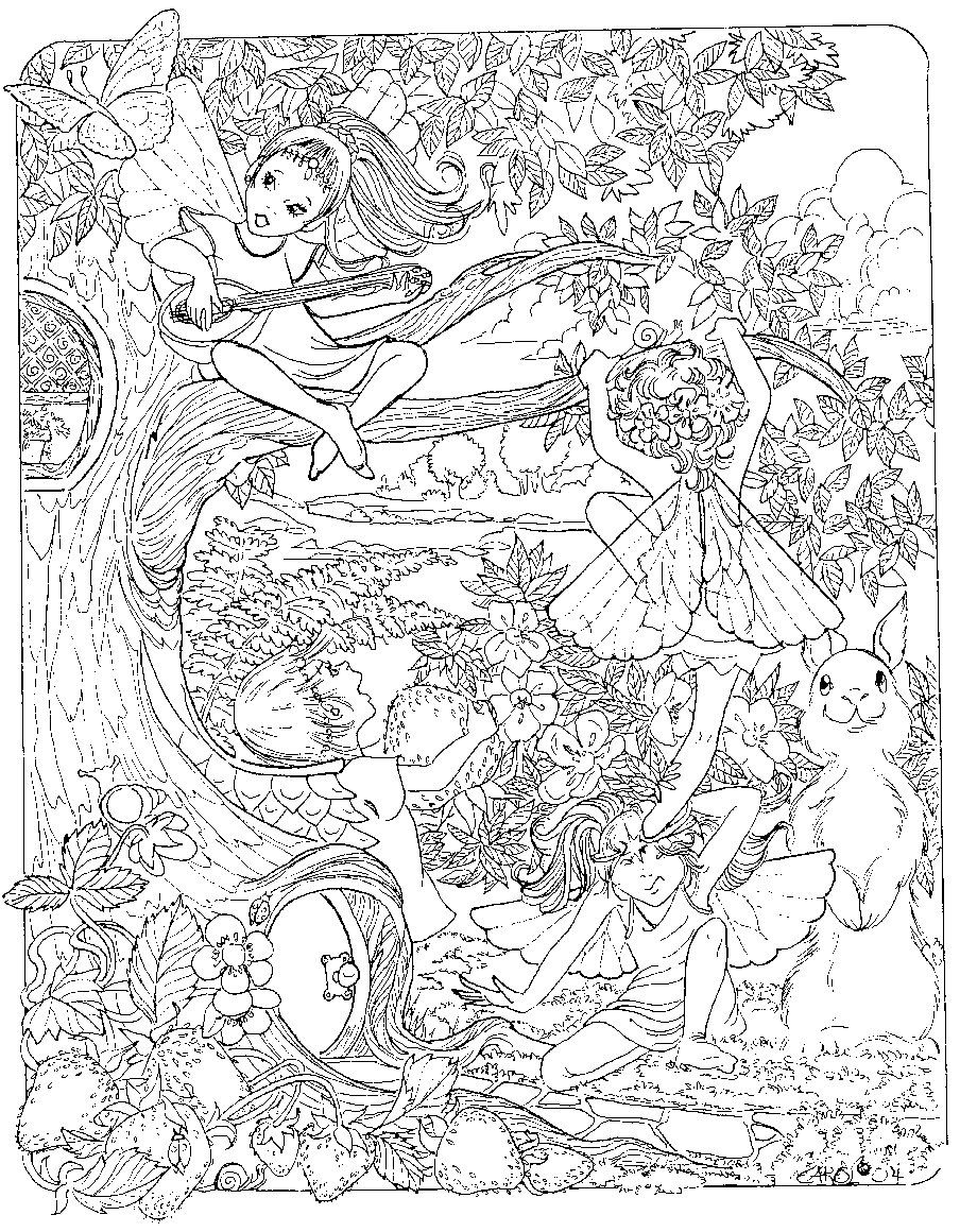 Explore fairy coloring pages and more