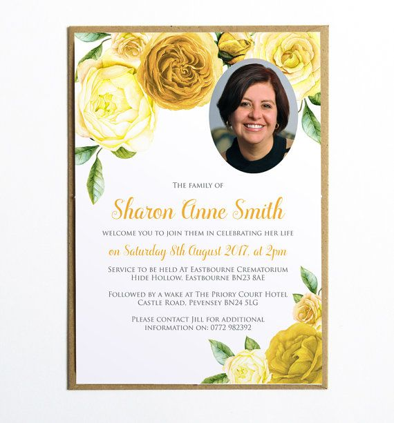 This elegant funeral invitation (or announcement card) would be a - invitation for funeral