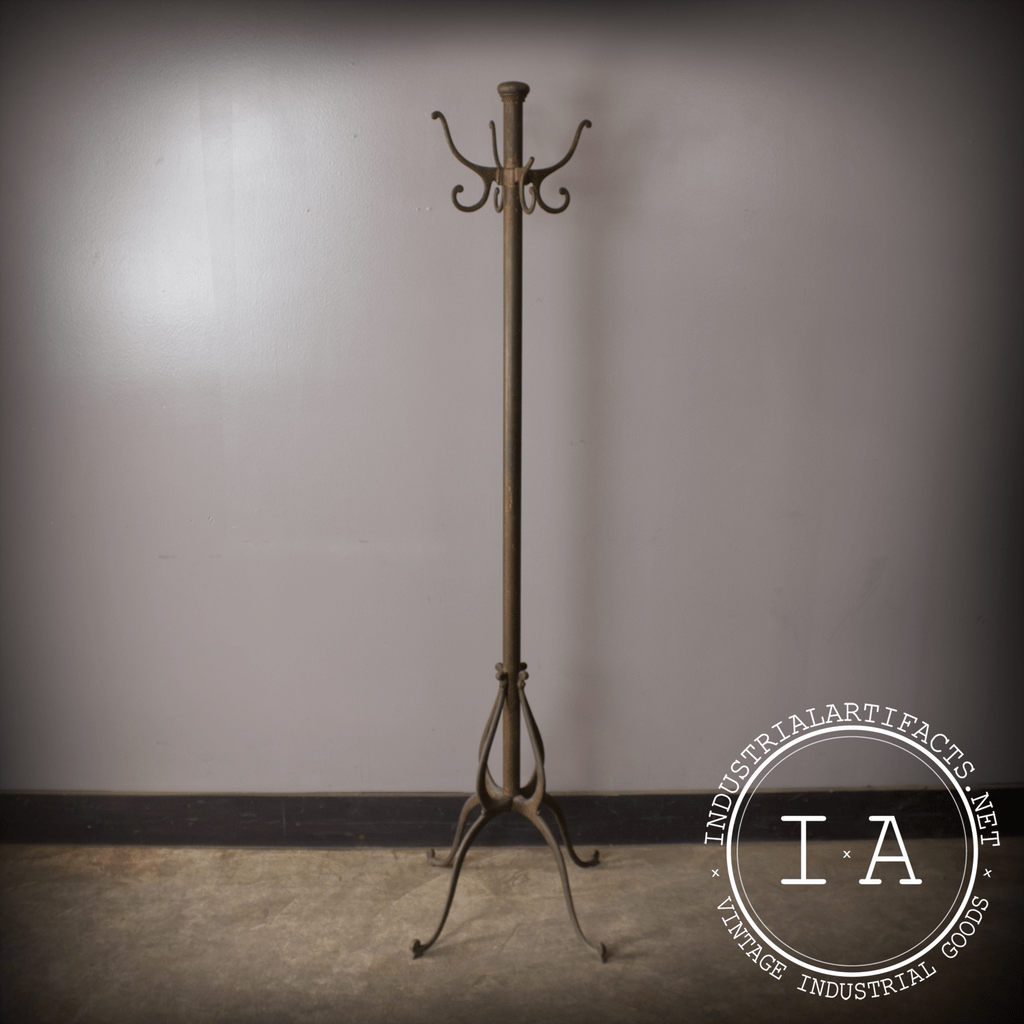 Rare Vintage Industrial Antique Cast Iron Coat Rack Tree