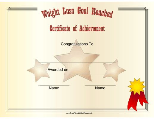 weight loss challenge certificate template salegoods Pinterest - printable congratulations certificate