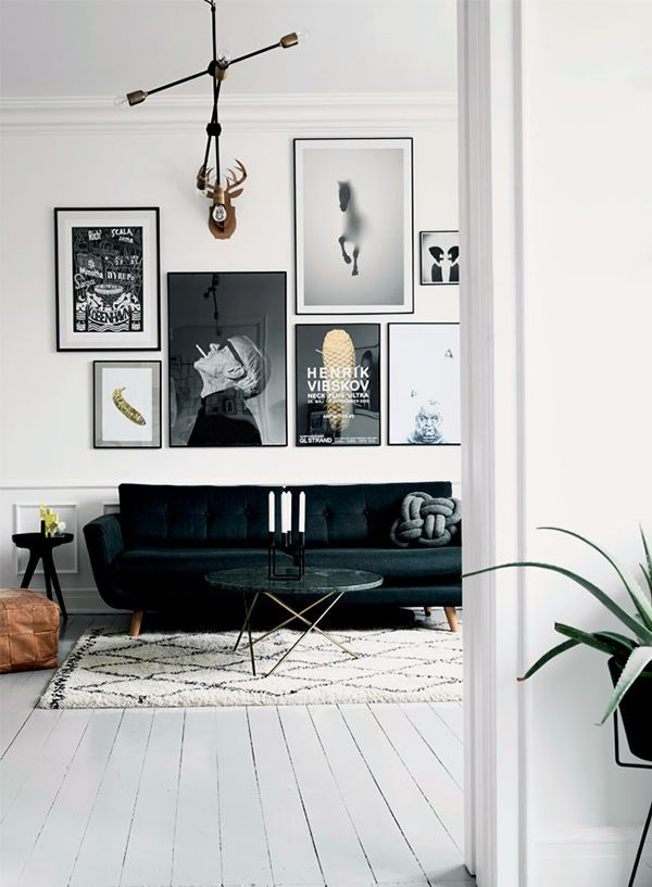 my) unfinished home Interiors, Living rooms and Room - black and white living rooms