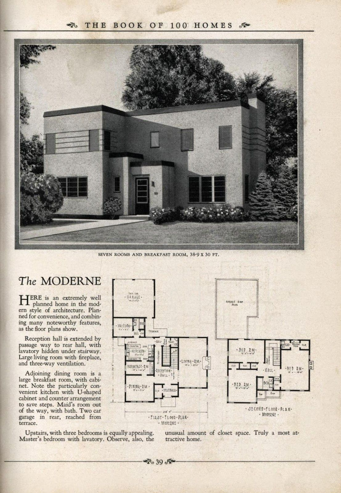 Art Deco Homes Art Deco House Plans Art Deco Resource Blue Prints