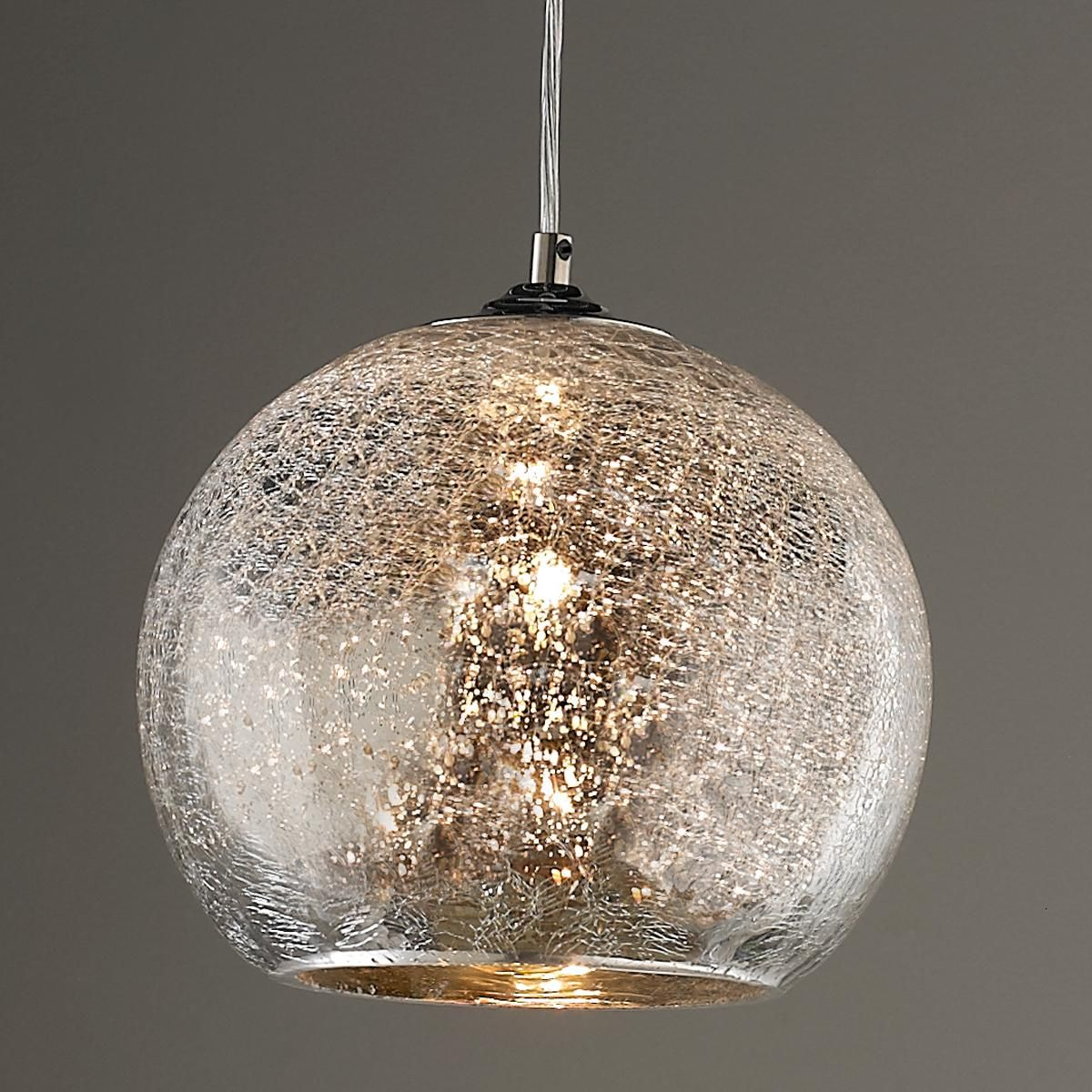 Kitchen Pendant Lighting Glass Shades Crackled Mercury Bowl Pendant Light Pendant Lighting