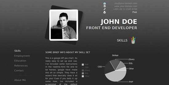 20 Free Premium WordPress Resume \/ CV Themes Freebies Pinterest - wordpress resume template