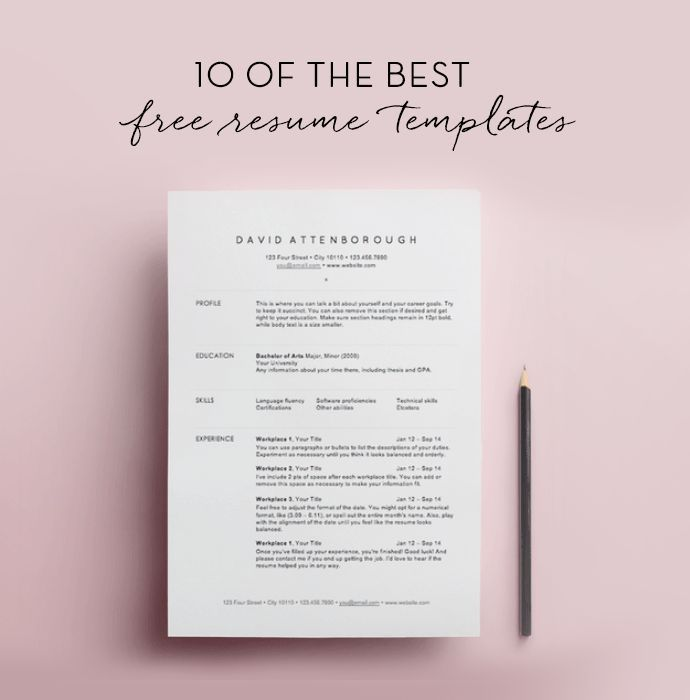 10 Free Resume Templates Free, Resume format and Business - best resume format for nurses