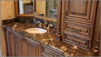 pictures of marble bathroom countertops with sinks | BROWN ...