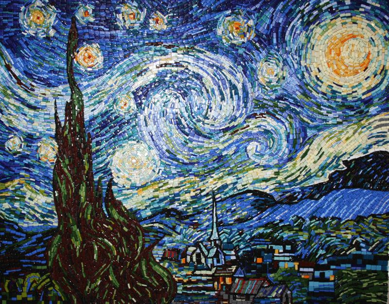Mosaic. Interpretation of Vincent Van Gogh Starry Night