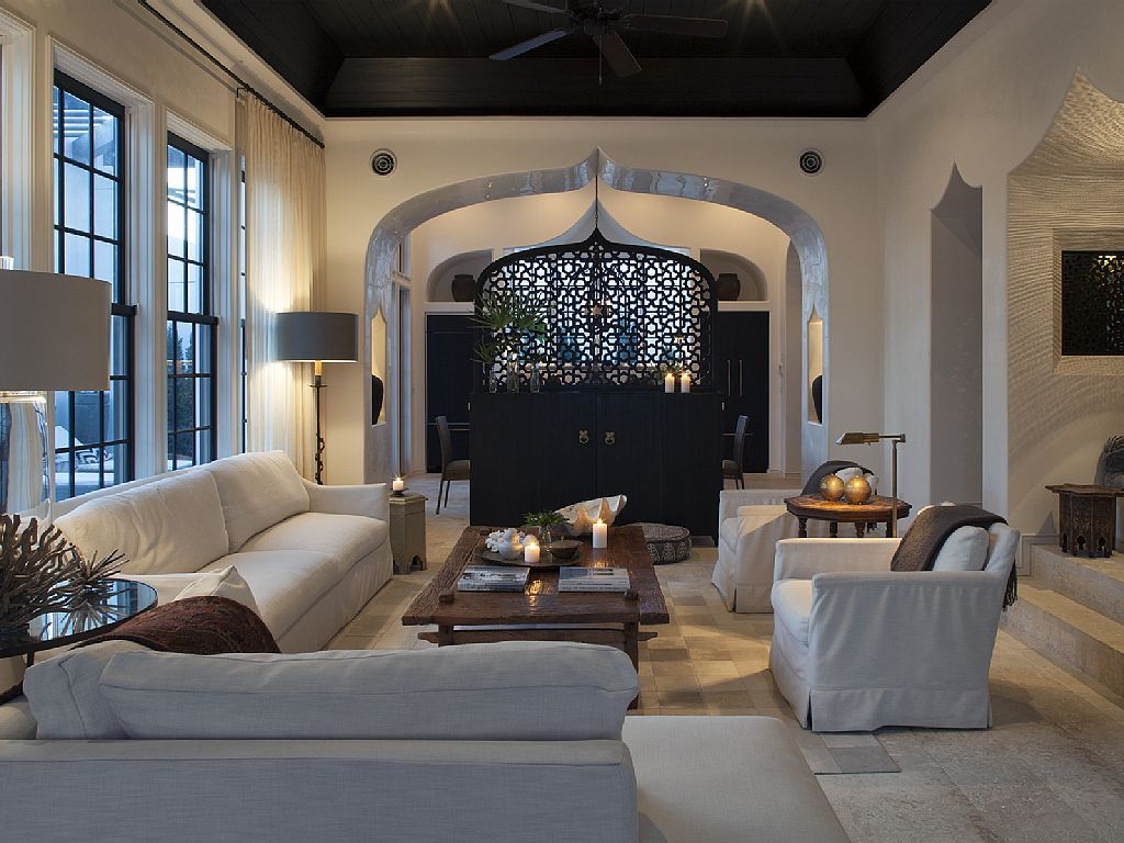 Salon Marroqui Moderno Casa Rosemary Beach South Walton Salones Acogedores