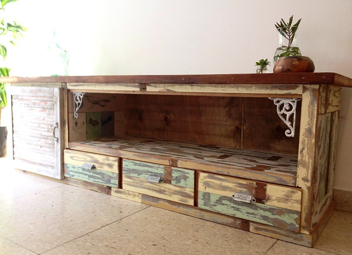 Muebles Rusticos De Madera Para Tv Muebles Para Tv Buscar Con Google Rack Tv Pinterest