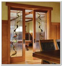 Stained Glass French Doors Interior | Stained glass ...