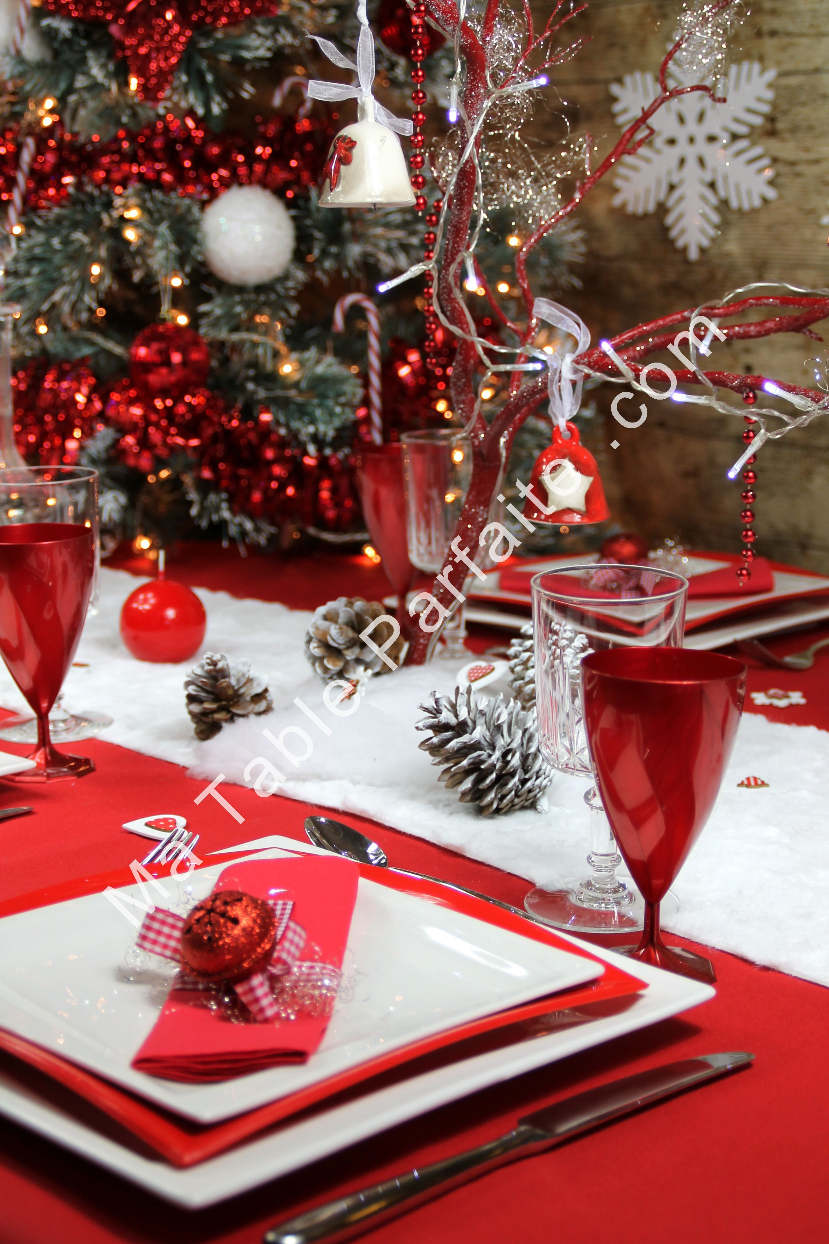 Deco Table Noel Blanc Decoration Table De Noel Rouge Et Blanc 105 Best Images About D