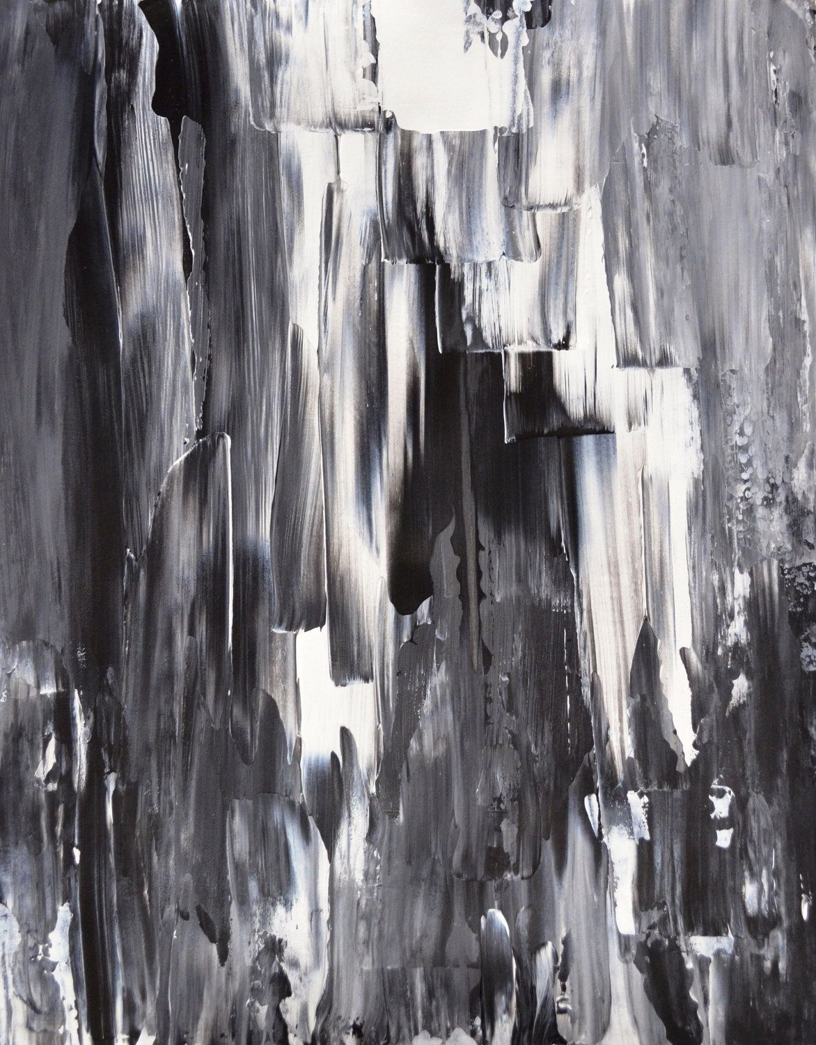 Black White And Gray Paintings Acrylic Abstract Art Painting Black White Grey Modern