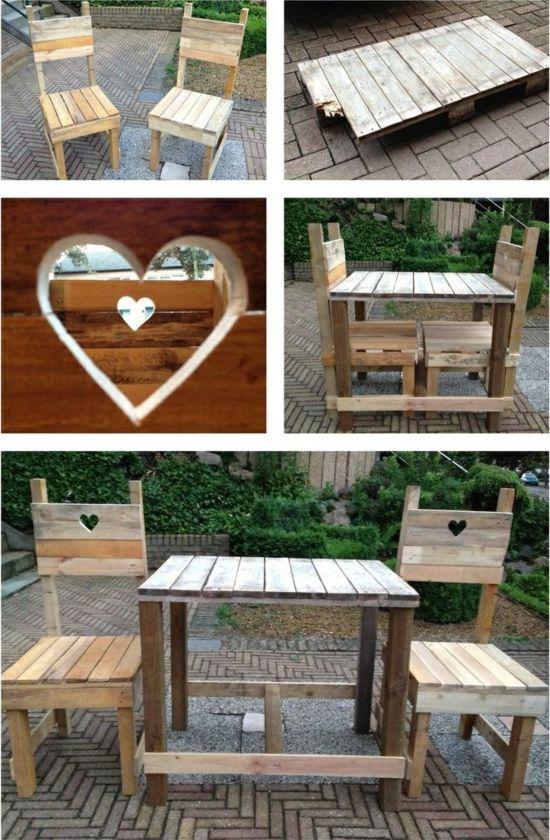 gartenmöbel aus paletten bastelidee Garten Pinterest Diy - holz mobel aus europaletten bauen