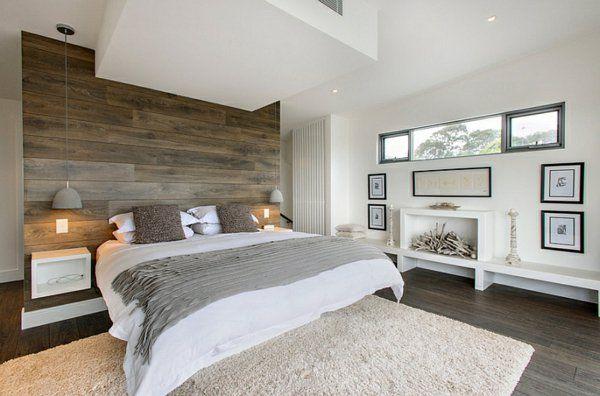grau bettdecke holz wand Schlafzimmer Pinterest Graue - schlafzimmer einrichten holz
