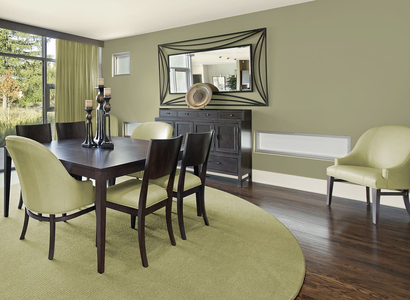 Dining Room Colour Ideas Dining Room In Artichoke Leaf Dining Rooms Rooms By