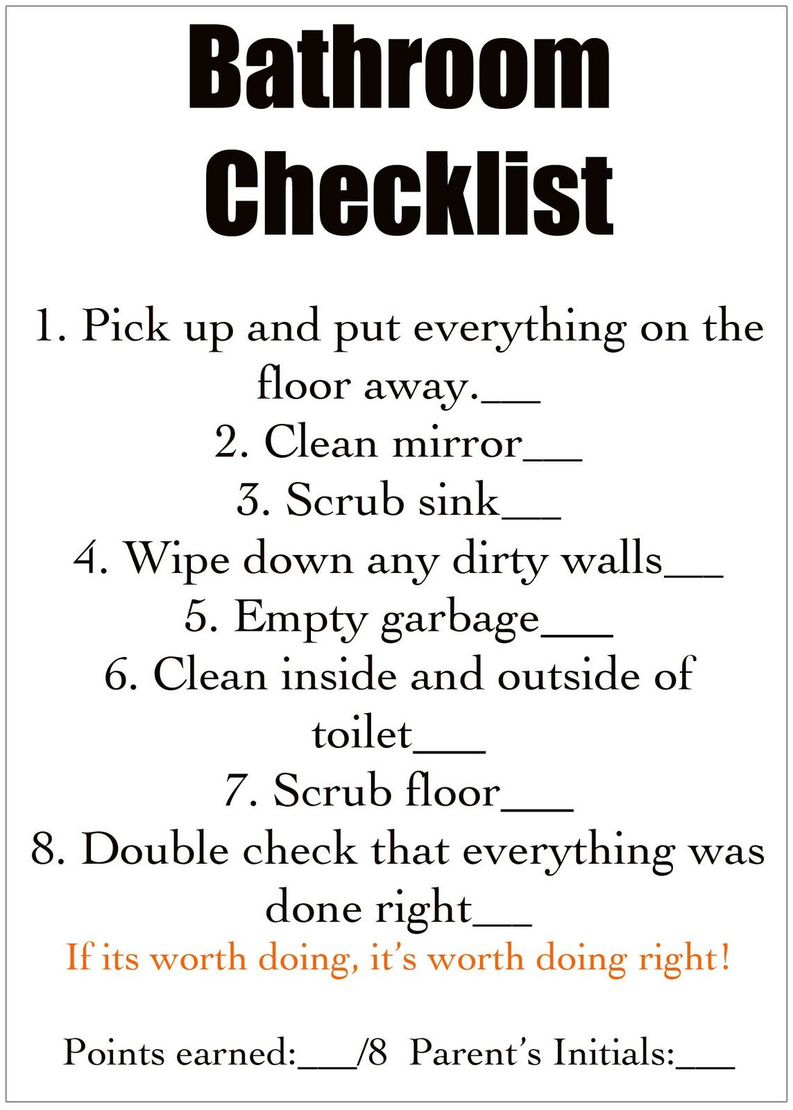 Bathroom Sign Up Sheet bathroom cleaning sign off sheet
