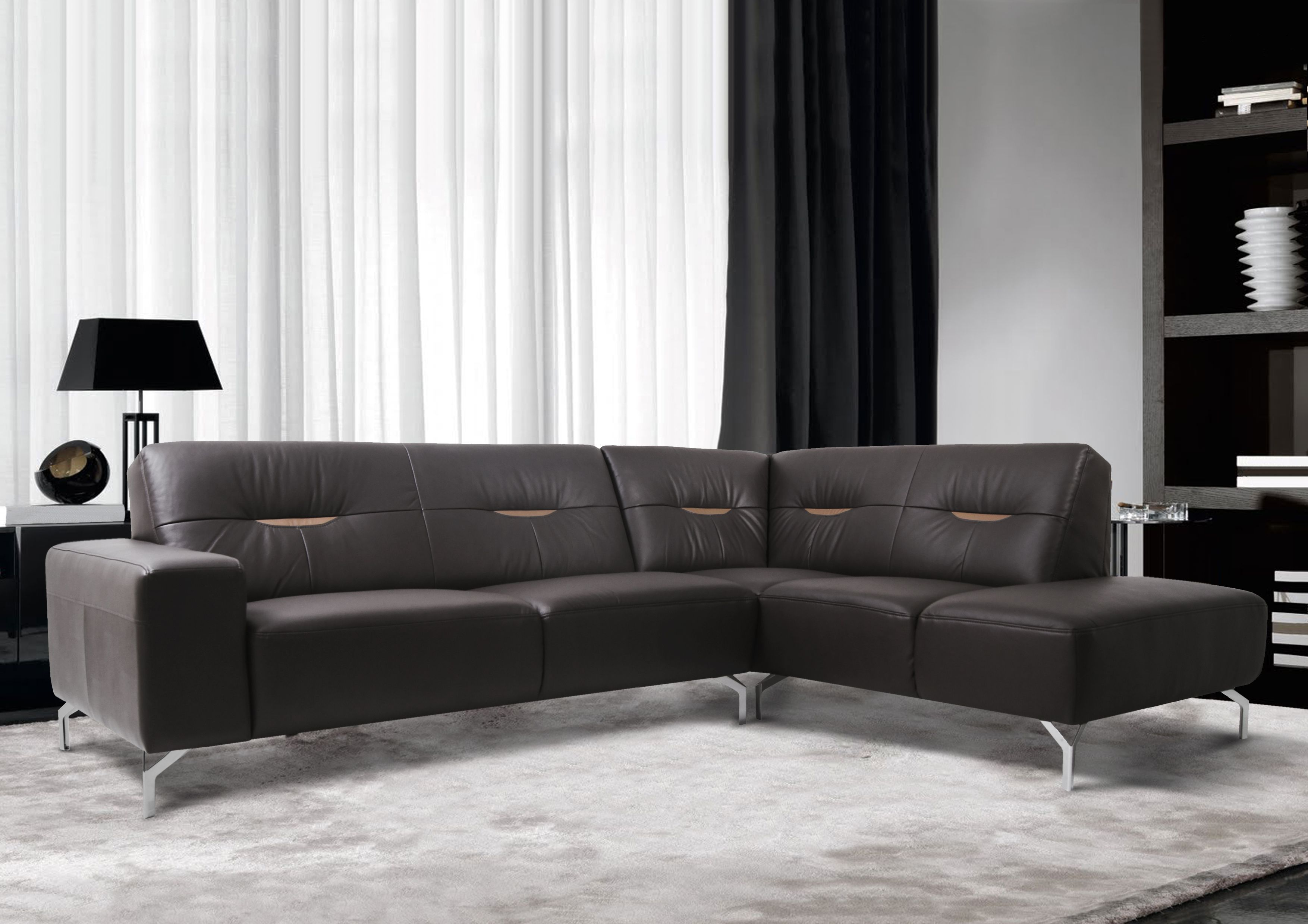 L Shape Sofa Set Designs+price Amalfi Leather Sofa An L Shaped Sofa Decked In Luxurious Leather