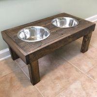 DIY Raised dog bowls / pet feeder - dog bowl holder ...