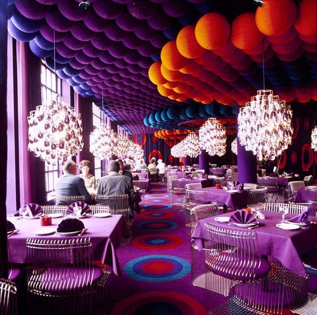 Verner Panton Interiors \/\/ Restaurant Varna \ Spiegel Verlagshaus - designer kantine spiegel magazin