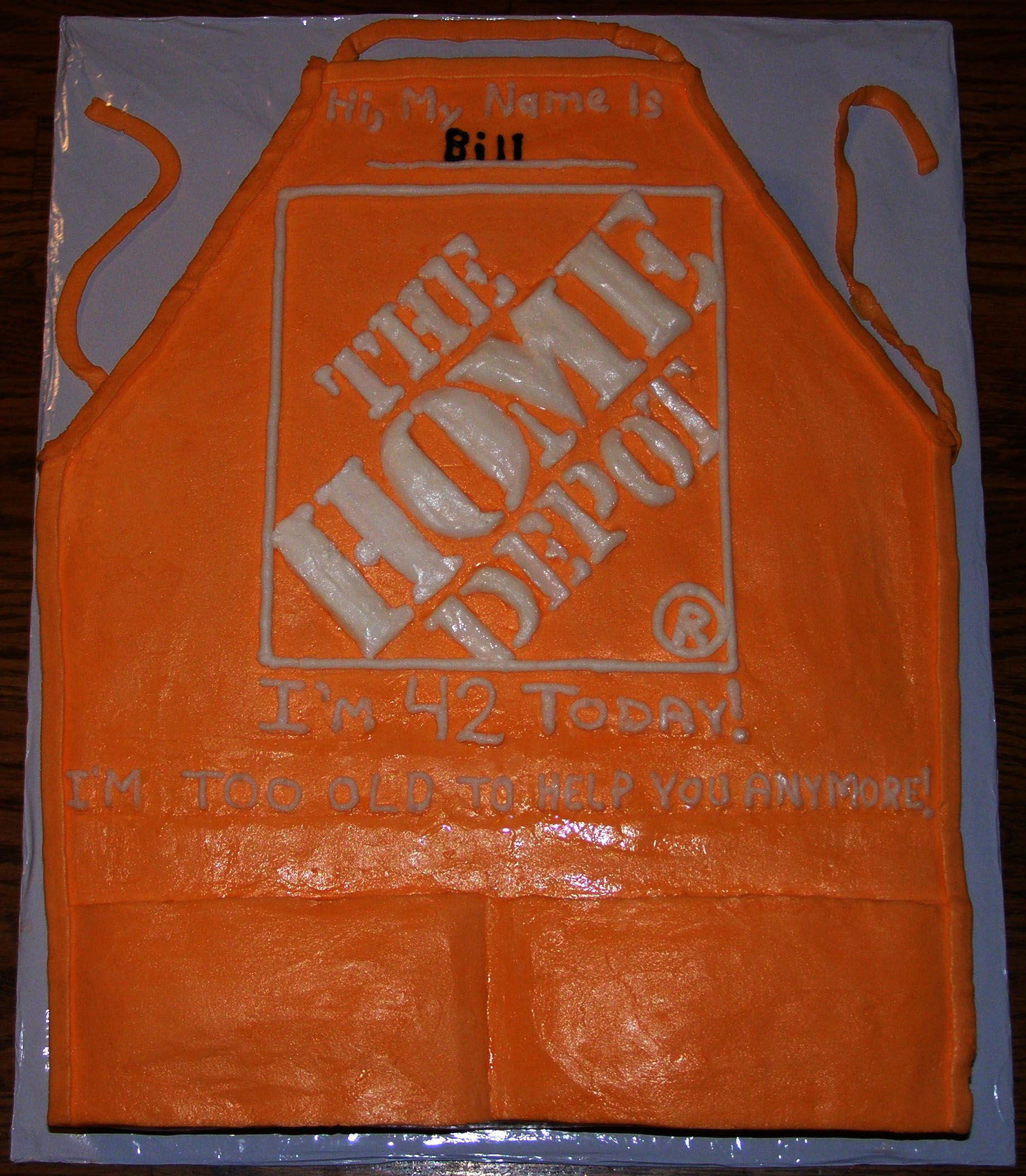 Vaughan Home Depot The Home Depot Apron Cake My Character Licensed Cakes