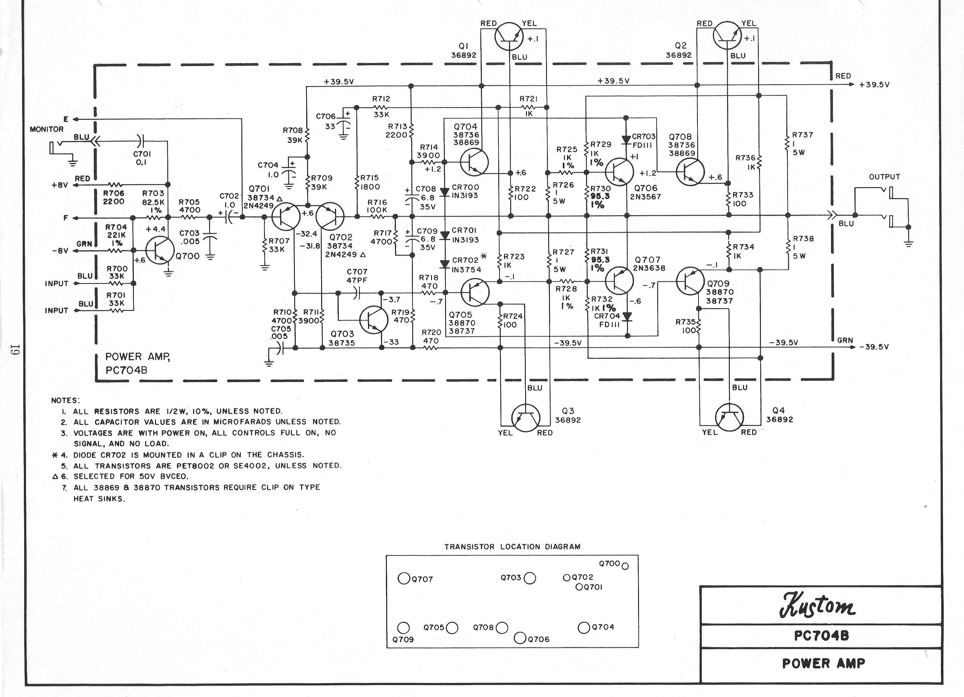 kustom amp schematic