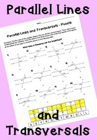 Parallel lines and transversals activity worksheet ...