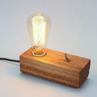 Fashion DIY Bedroom Modern Edison Wooden Table Lighting ...