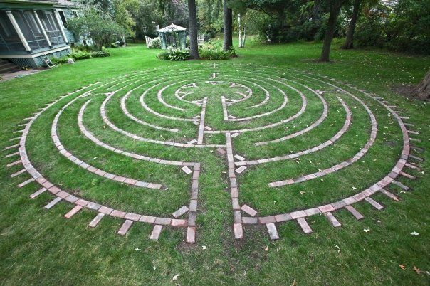 Labyrinths are ancient symbols which can be found imprinted on the - labyrinth garden design