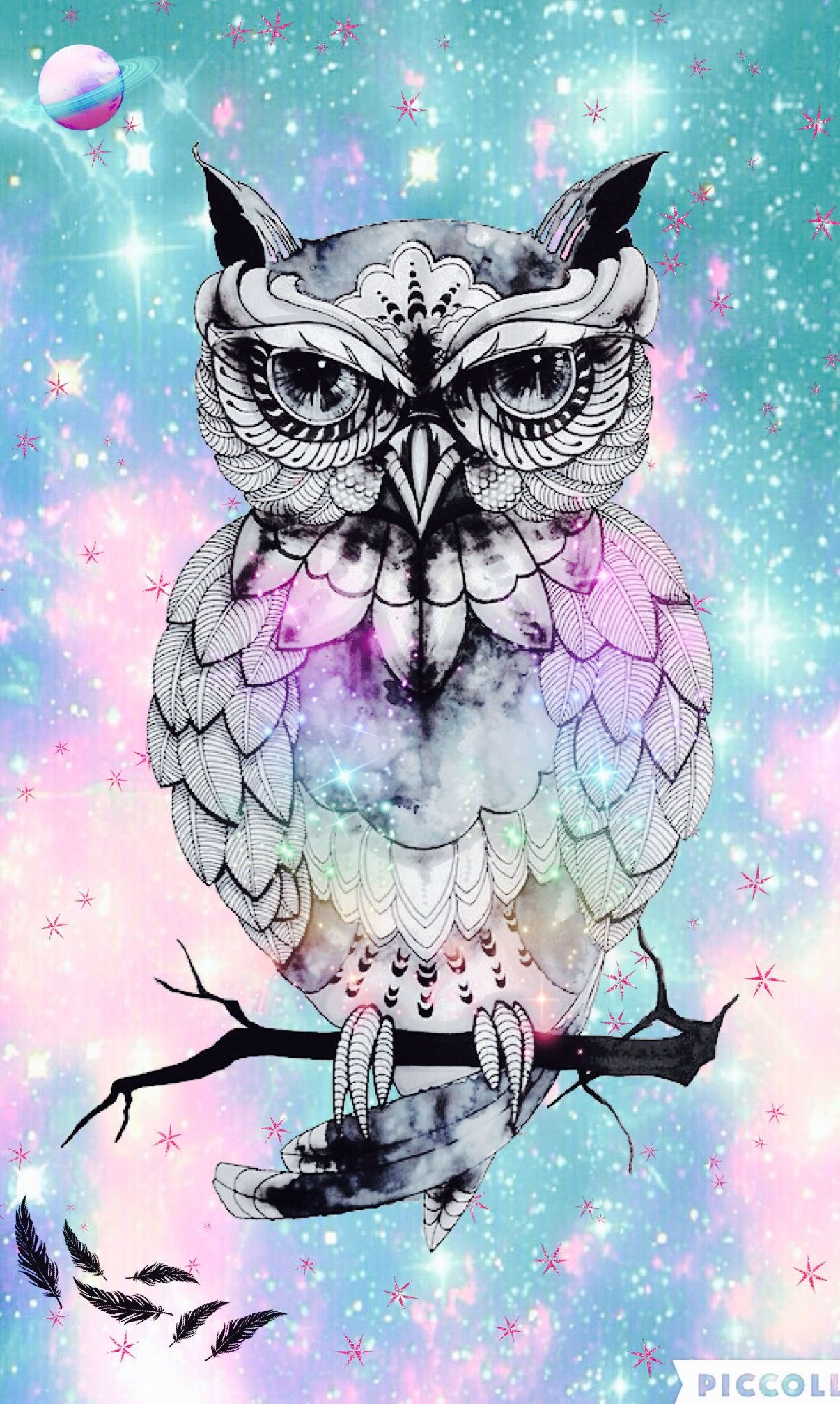 Animal Print Pink Wallpaper Owl Hipster Galaxy Wallpapers By Me Pinterest