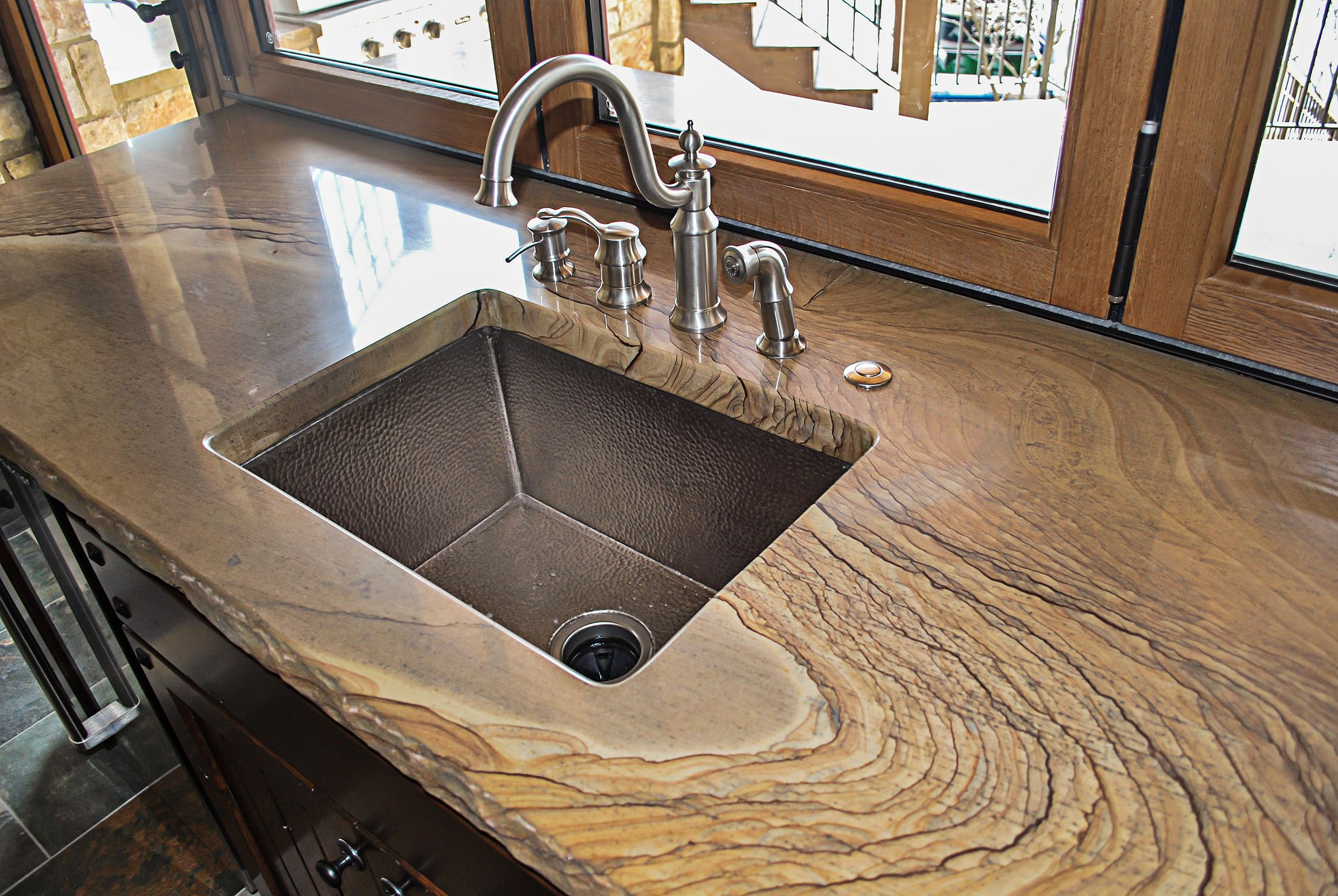 How To Grind Granite Countertops Beautiful Kitchen In This Lake House Featuring Semco Stone