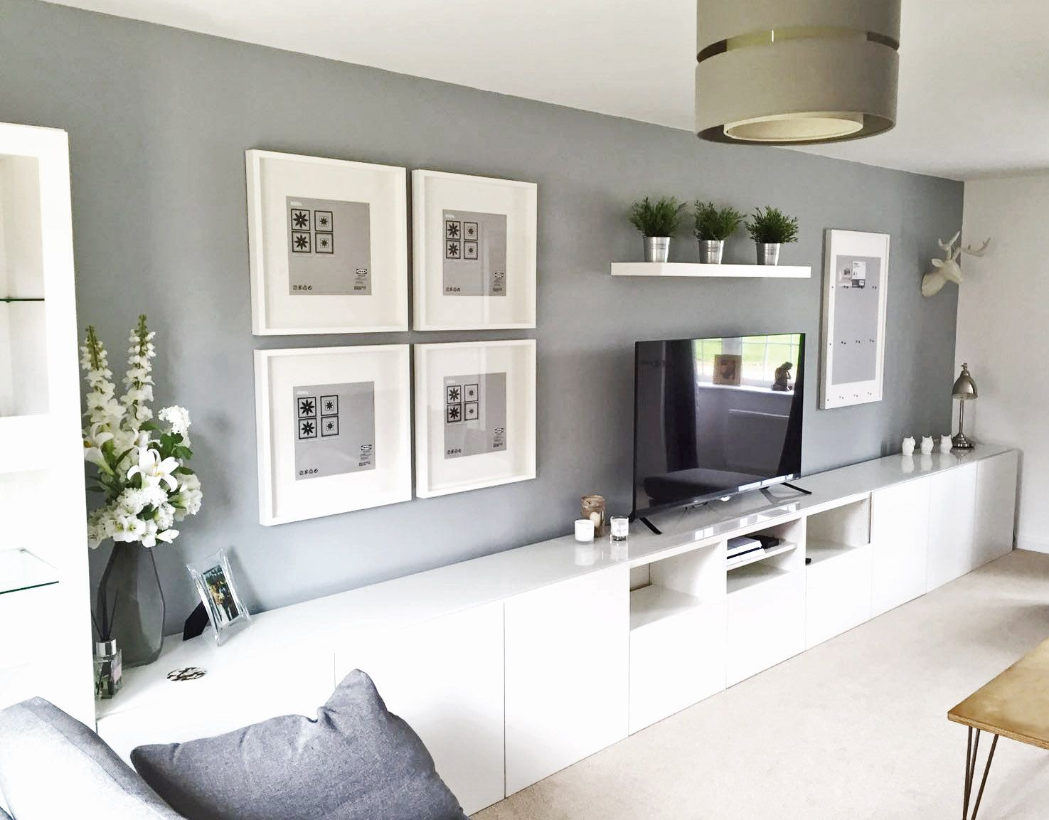 Ideas Salones Ikea Ikea BestÅ Living Room Tv Unit Picture Frames Ribba