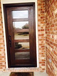Entry, Front Door Minwax Gel Stain Walnut Reed glass