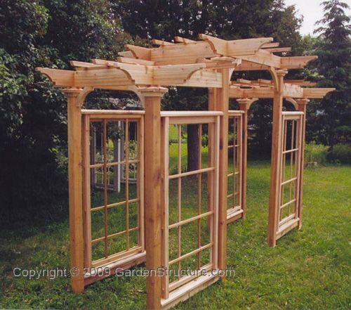 Arts \ Crafts Pergola How to build Arbors - Arbours, Arbour - garden arbor plans designs