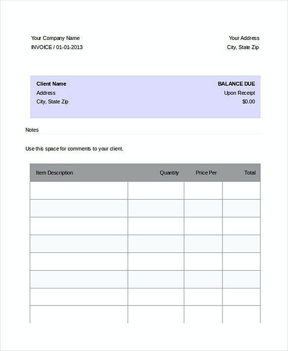 Dj Service Invoice templates , DJ Invoice Template , Easy DJ - easy invoice template