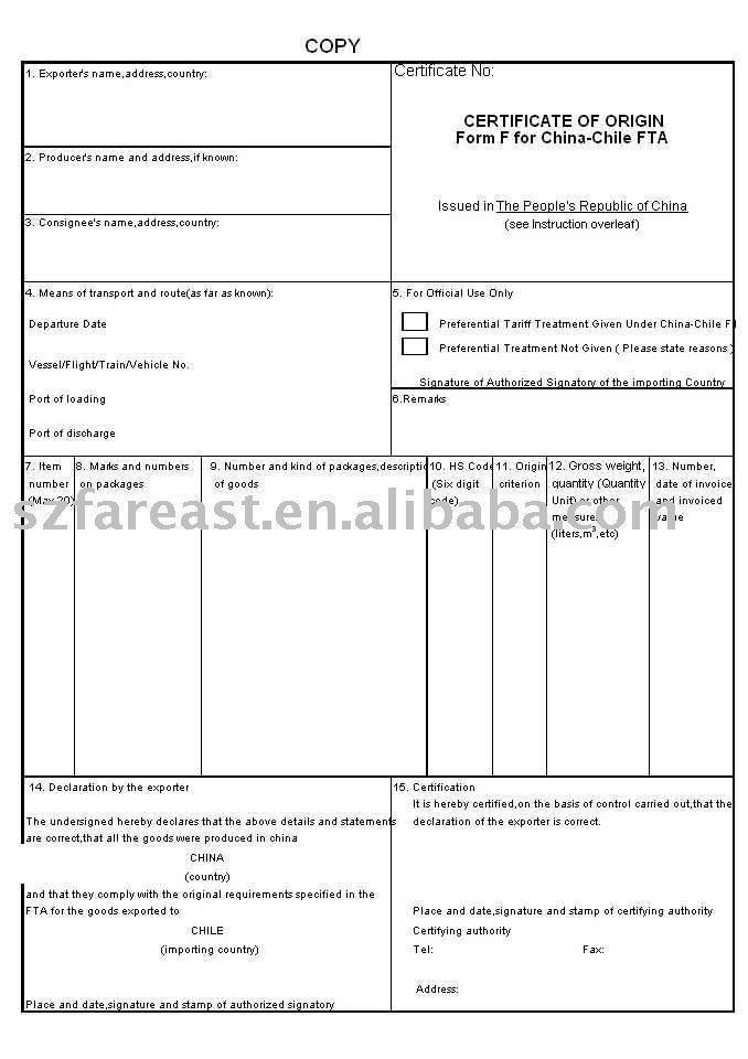 BUSINESS CERTIFICATE (FORM F) $24~$30 сертификаты Pinterest - certificate of origin template