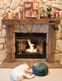 Reclaimed Fireplace Mantel | Rustic Fireplace Mantels ...