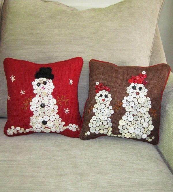 2013 DIY Christmas Pillow, Brown Christmas Decor Ideas, Handmade - decorative christmas pillows