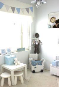 Light grey and blue baby room. Nursery idea. | Nursery ...