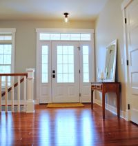 Interior // 3/4 Light Colonial Front Door with Transom and ...