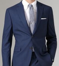 navy suit + white shirt & cotton grey tie. | Fashion ...